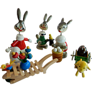 Five Vintage Goula Easter Novelty Toys Made in Spain