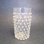 Vintage Tall Clear Pinched Glass Tumbler