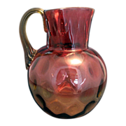 Vintage Amberina Water Pitcher