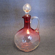 Vintage Cranberry Glass Ewer