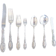 Towle Sterling Silver King Richard 7pc Flatware Place Setting F Monogram