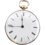 Antique c1870's Losada London 72513 Key Wind-up 18k Gold Pocket Watch