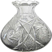 American Brilliant Period Cut Glass Vase or Decanter