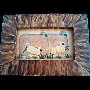 HOORAY For SPRING Signed Bobbie Becker Framed ORIGINAL Animals SHEEP Painting