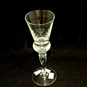 King Gustav III Crystal Stemware White Wine Glass Set Reproduced by Hovmantorp Glasbruk