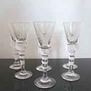 King Gustav III Crystal Stemware Cordial Glass Set Reproduced by Hovmantorp Glasbruk