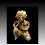 Kneeling Mayan Woman Figurine