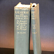 1st Edition Karakoram and Western Himalaya 1909: An Account of the Expedition of H.R.H. the Duke of the Abruzzi, DeFilippi 2 volumes