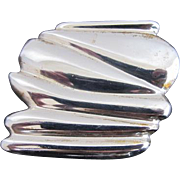 Art Nouveau Style STERLING Silver Vintage Belt Buckle Signed K YOUNG