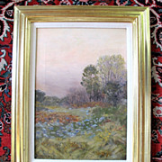 Twilight Landscape Impressionist Oil Painting on Canvas by Ben Foster