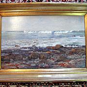 Waves Breaking Off the Reef Oil Painting by George Gardner Symons