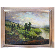 Original Landscape Oil Painting Summer Rain by Montana artist Parke Goodman