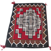Vintage Navajo Indian Saddle Blanket or Rug