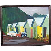 Original Signed Painting on Canvas by NW Portland Oregon Artist Donald ERCEG
