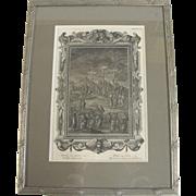 Holy Physics  Johann Jakob Scheuchzer Antique Crucifixion Framed Copper Engraving Plate