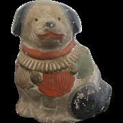 Antique Asian Wooden Unique Dog Rattle