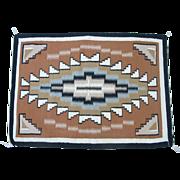 Vintage Native American Navajo Hand Woven Sheep Wool Burntwater Rug