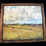 ORIGINAL Fernando Morales Jordan Country Ranch LANDSCAPE Signed Oil Painting