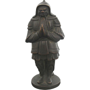 Finely Detailed Bronze 2 Sided Asian Warror Statue