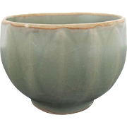 Ancient Late Southern Song/ Early Yuan Green Longquan Celadon Small Asian Pottery Bowl