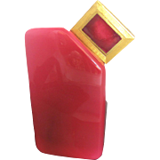 """Vintage Baccarat for Ybry Ruby Crystal Perfume Bottle """"Desir du Coeur"""""""