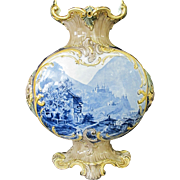 Modehling Hoher Werfen AUSTRIAN Traunkirchen Village Blue MOUNTAINS 19th C Vase