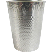 "Sterling Silver by Webster ""Only a Thimble Full"" Novelty Liquor Shot Bar Glass"