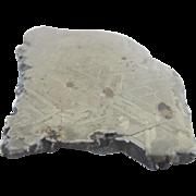 Beautiful Widmanstatten Pattern Odessa Haag Meteor Meteorite Slice 243g