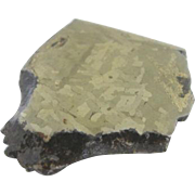 Beautiful Widmanstatten Pattern Odessa Haag Meteor Meteorite Slice 82g