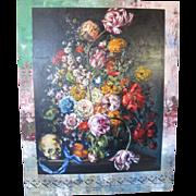 Titanic Artist Marilyn McAvoy Vanitas w/Skull Floral Still Life Oil Painting