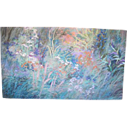 Pacific NW Artist Ann Ruttan Large Floral Wildflower Original Oil Painting