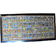 Ethiopian Story of Ruth Bible Story Board Large Colorful Original Oil Painting