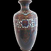 Vintage Japanese CLOISONNE Enamel & Mica Sparkle Shelf Vase