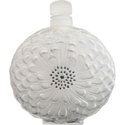 "Signed LALIQUE France Large DAHLIA 8"" Frosted Etched Glass Perfume Bottle"