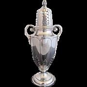 Antique Birmingham 1913 Sterling Silver Muffineer Sugar Shaker w/Handles