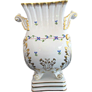 HEREND Hungary Hand Painted Blue GARLAND Large Floral Baroque Vase