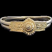 Vintage Judith Leiber Gold Tone Medallion Snake Coil EGYPTIAN 2 Headed Bird Belt