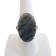 Large MATRIX Oval OPAL 18k Yellow Gold Statement Cocktail Ring