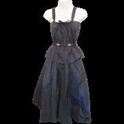 LAURA BIAGIOTTI Pret a Porter ITALY 3pc Black SILK Shirt Skirt Rhinestone Belt