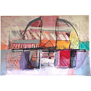 Israeli Artist CALMAN SHEMI Abstract Modern Art SOFT PAINTING Wool Rug Tapestry