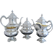 WALLACE Sterling Silver GRAND BAROQUE 5pc Coffee Teapot Cream Sugar Service Set