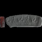 Ancient Assyrian Cylinder Seal Carnelian Barrel Form Bead 600 BC