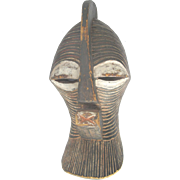Large KIFWEBE Ceremonial Songye People Republic of Congo Carved Wood MASK