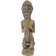 Large BAULE Ivory Coast West African Carved Wood Art Male Spirit Figure STATUE
