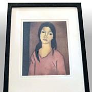 """John M. Kelly """"Mokihana Hawaii'i"""" signed, framed aquatint"""