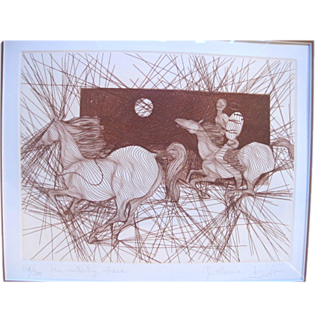 Signed Limited Edition Sketch Art Print MISSING BRAVE by Guillaume Azoulay