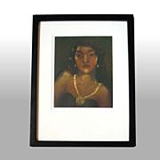 "John M. Kelly ""The Brown Princess"" Framed & Signed Aquatint"