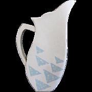 Signed Sasha Wardell British Ceramic Bone China Geometric Modern Pitcher Vase