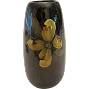 Weller Pottery Yellow Magnolia Flower Blossoms Cylinder Vase