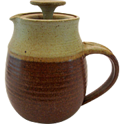 RESERVED American Studio Pottery Earthenware Coffee Pot Teapot Pacific NW